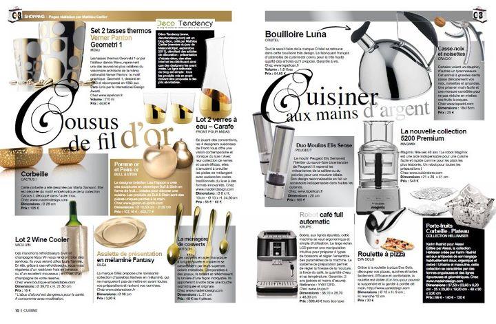Chroniques Déco dans le magazine Cuisine Tendance + Bains 2