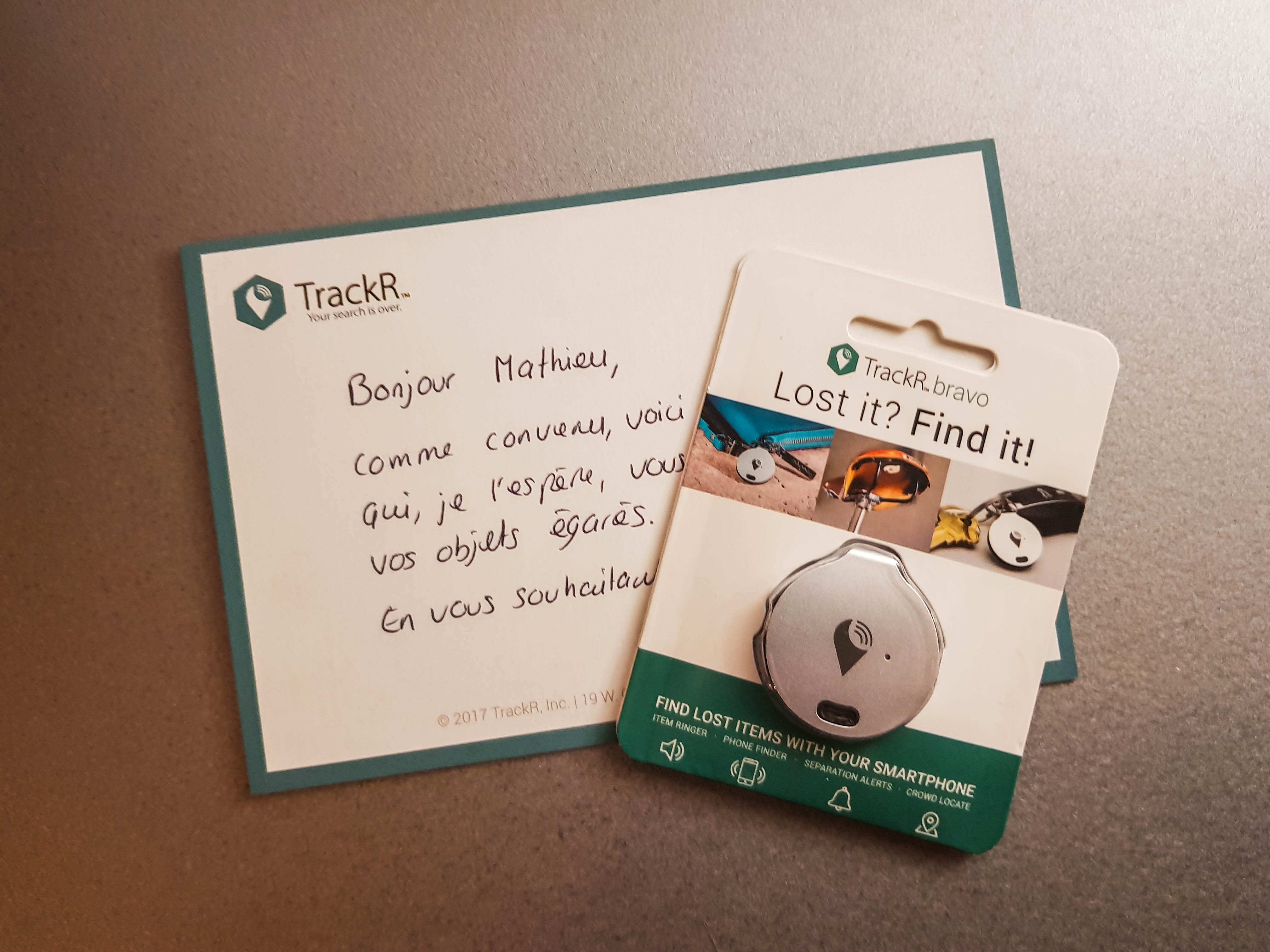 Test produit porte-clé connecté Bravo de TrackR