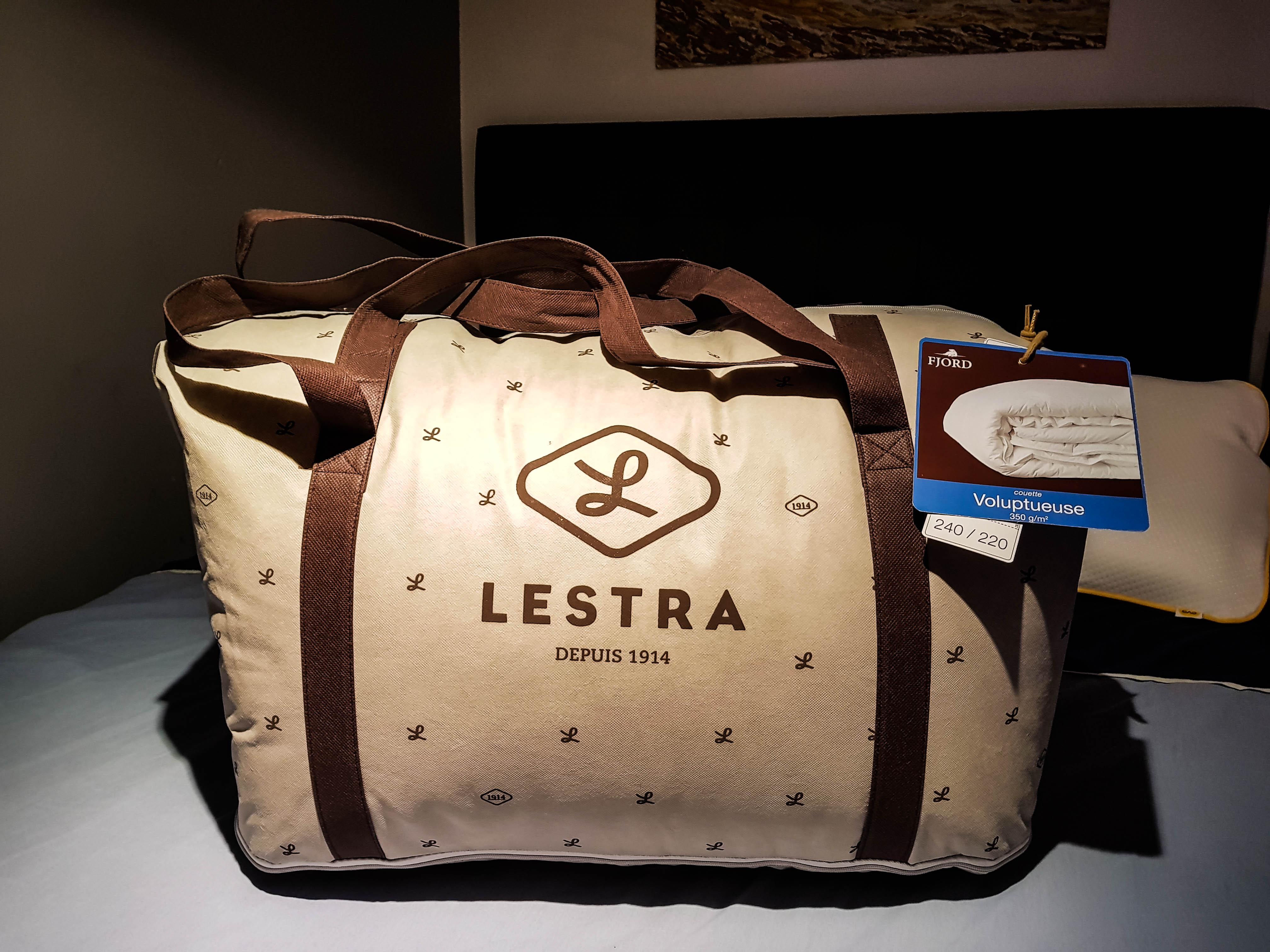 Test produit nouvelle fibre Quallofil Premium de Dacryl couette Lestra