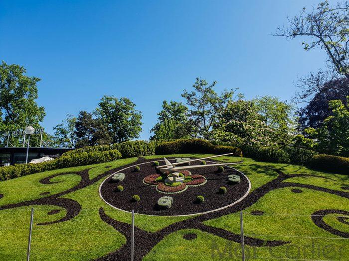 Visiter Genève en une journée Horloge Fleurie