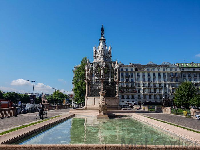 Visiter Genève en une journée Monument Brunswick