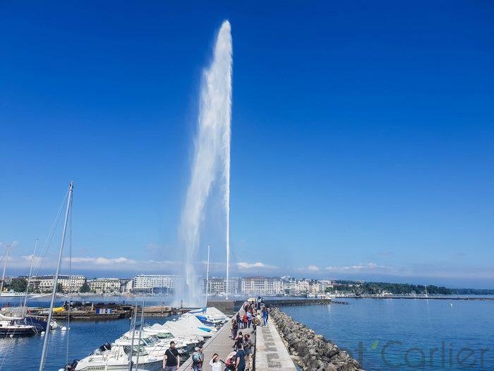 Visiter Genève en une journée jet d'eau 4