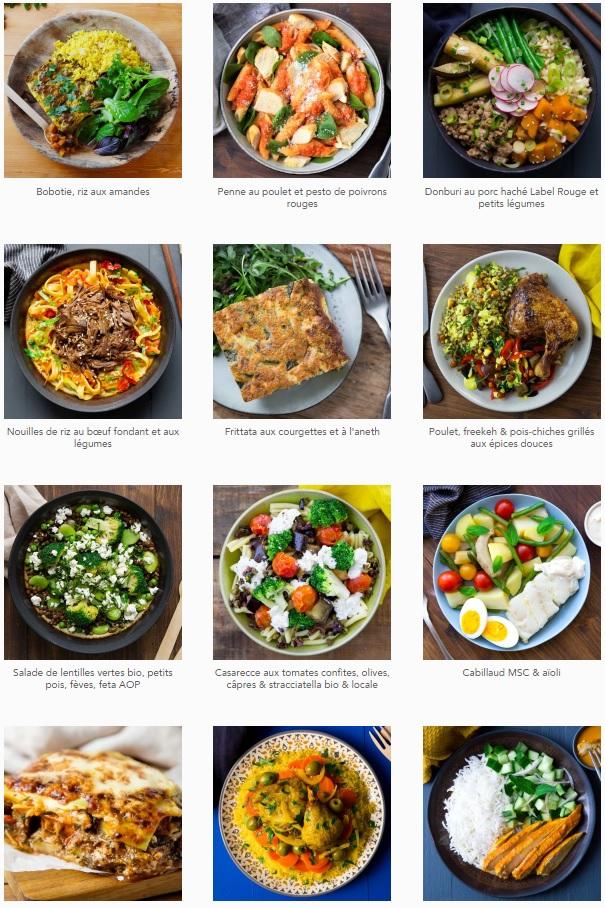 Avis Seazon - Quels sont les plats proposés par le site