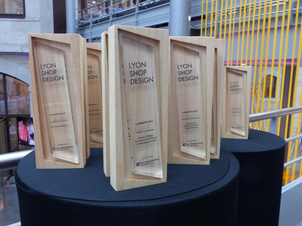 Les trophées Lyon Shop Design imaginés par Amaury Poudray