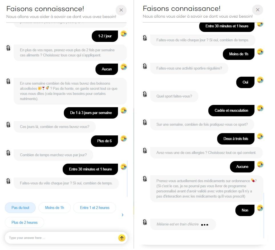 Avis Bloomizon Test questionnaire 3