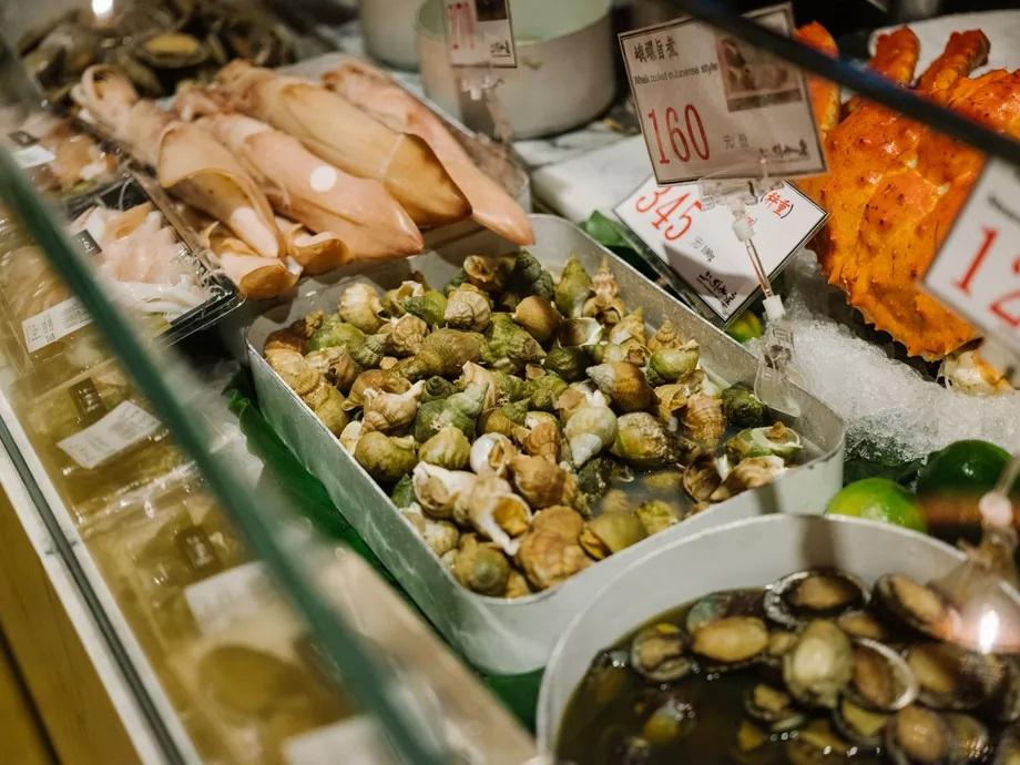 Marché gastronomique de Zhongshan -Les plats à emporter