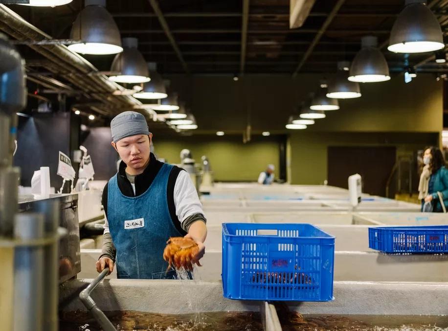 Visite d'Addiction Aquatic Development, le marché gastronomique de Zhongshan 2