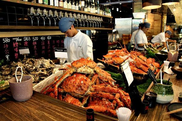 Visite d'Addiction Aquatic Development, le marché gastronomique de Zhongshan 3