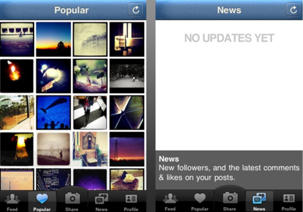 premiere version d'instagram