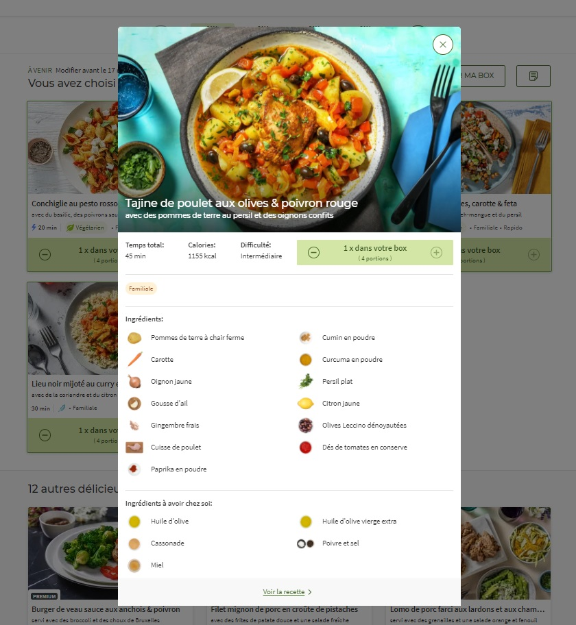Avis HelloFresh recettes