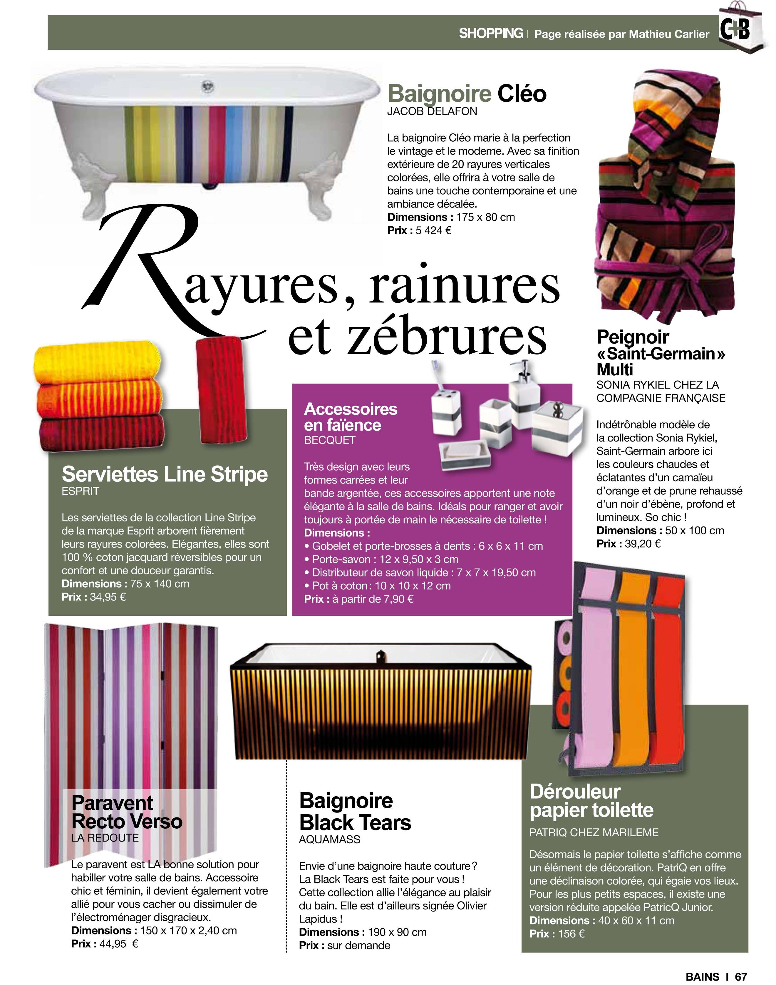 Chroniques Déco dans le magazine Cuisine Tendance + Bains 7