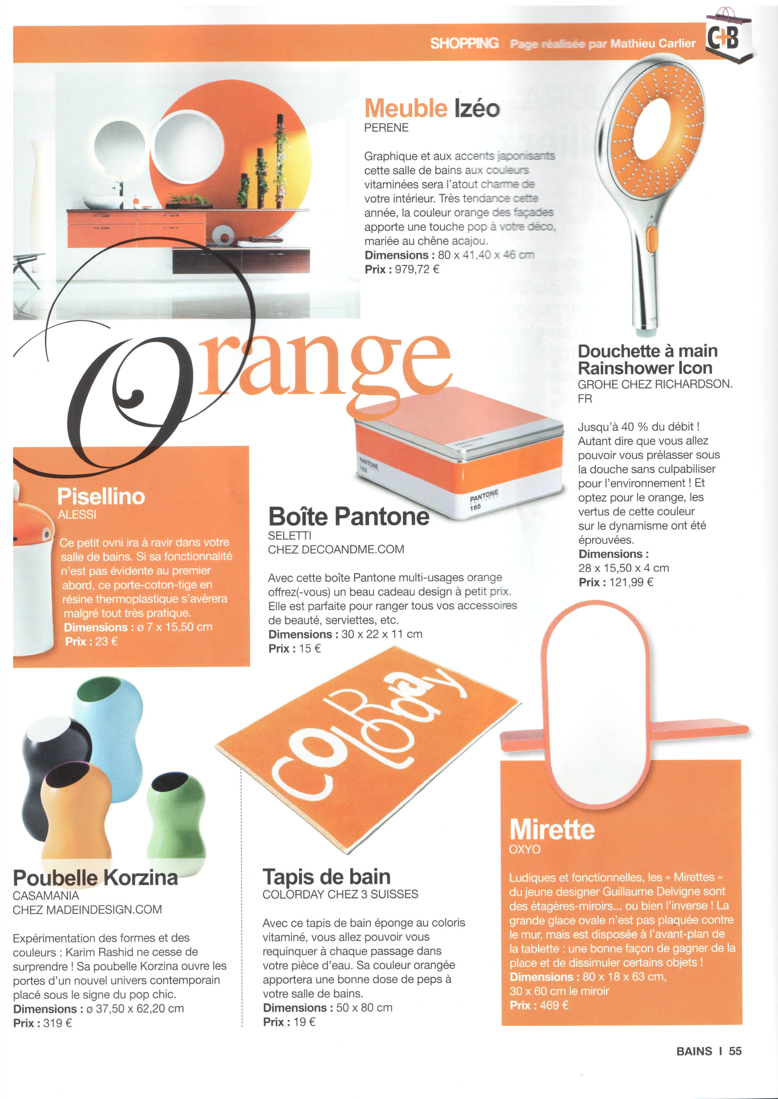 Chroniques Déco dans le magazine Cuisine Tendance + Bains 12