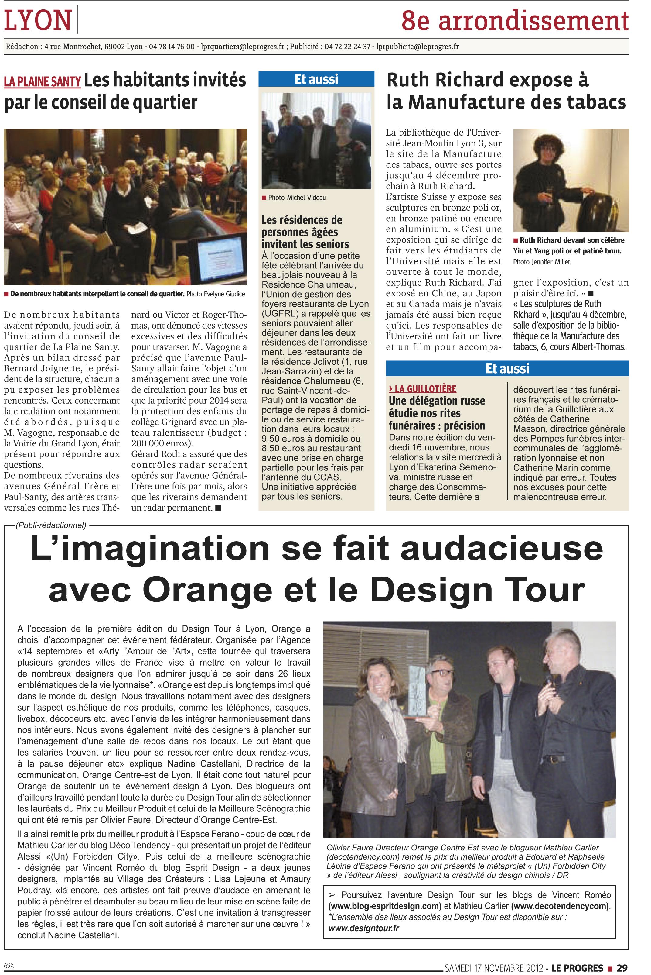 Design Tour Article Le Progrès