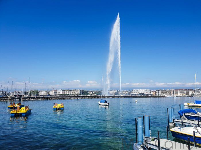 Visiter Genève en une journée jet d'eau 3