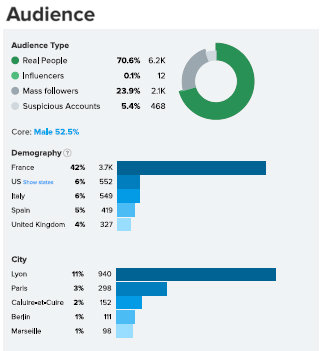 Influenceurs vs Blogueurs HypeAuditor audience