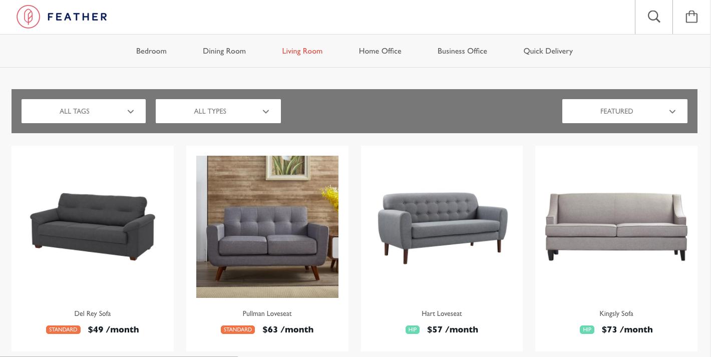 La location de mobilier sera bientôt possible chez Ikea Feather 1