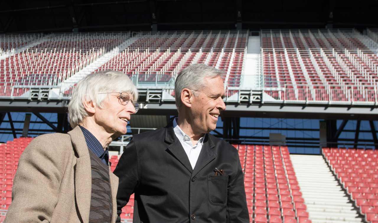 Klaus Littmann et Max Peintner au Wörthersee stadium à Klagenfurt