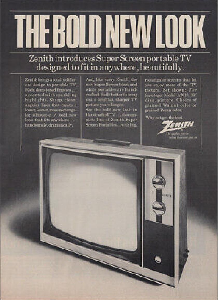 publicité imprimée Zenith de 1982