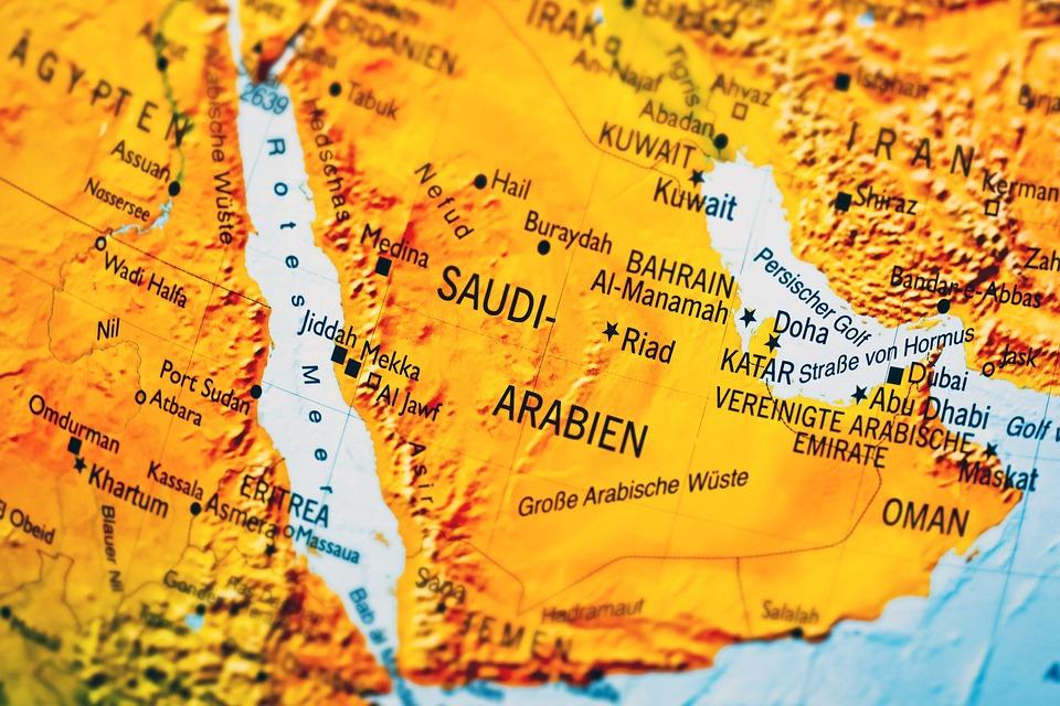 carte Arabie Saoudite