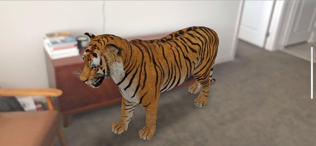 la fonction Animaux 3D de Google