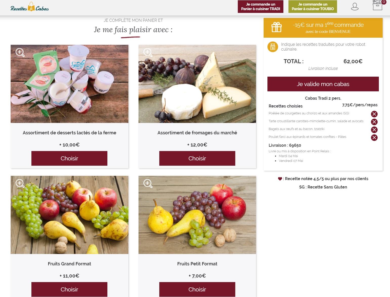 Avis Recettes et Cabas - Test du site qui vous livre des paniers prêts-à-cuisiner