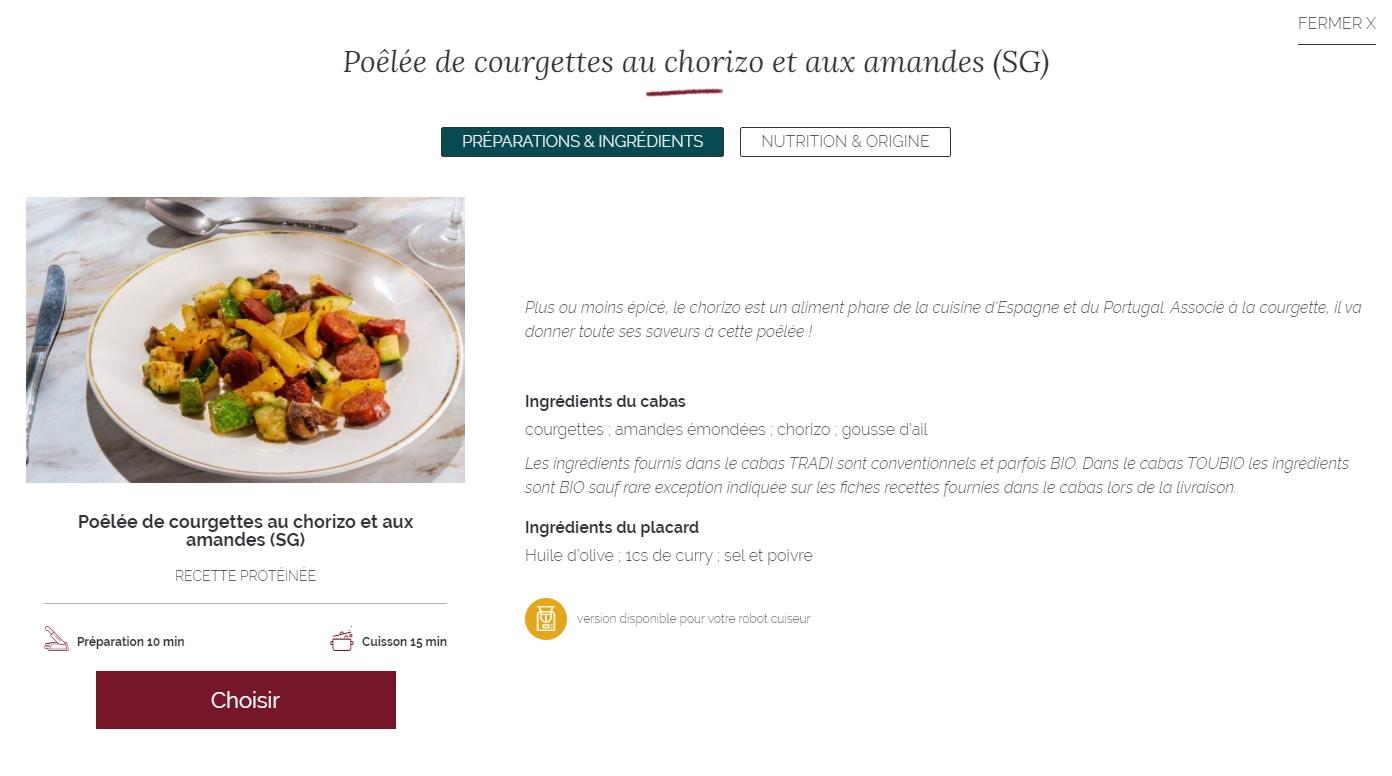 recette poêlée courgette chorizo