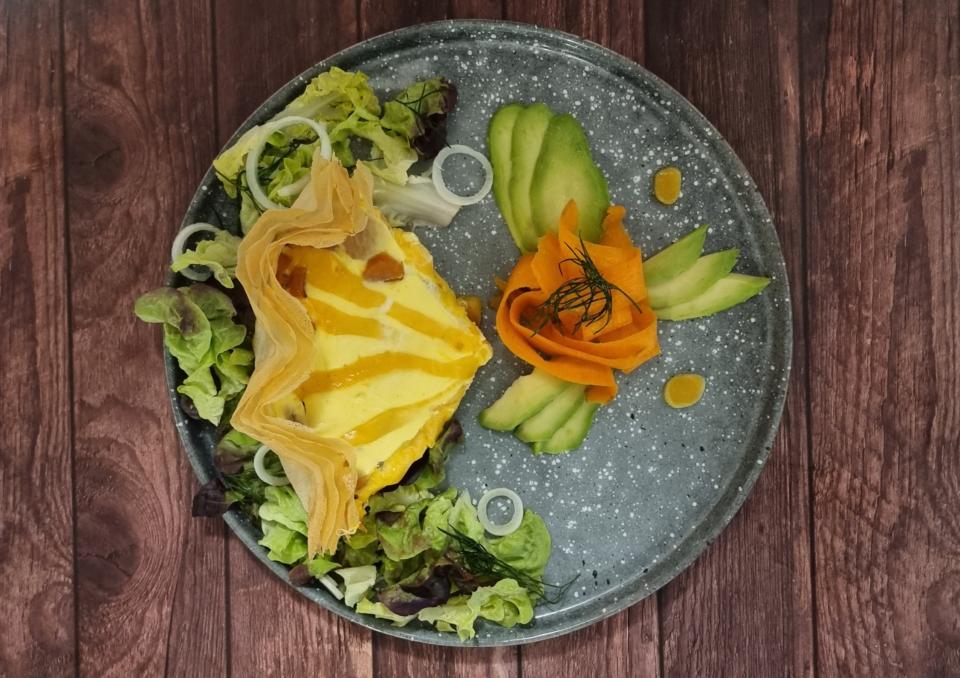 tarte croustillante carottes-mimolette-cumin